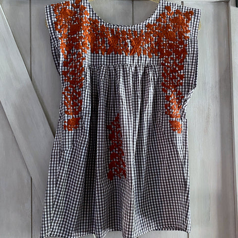 Longhorn Gingham Butterfly Blouse