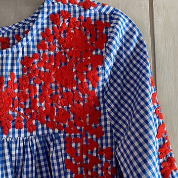 Red, White, & Blue Gingham Saturday Blouse