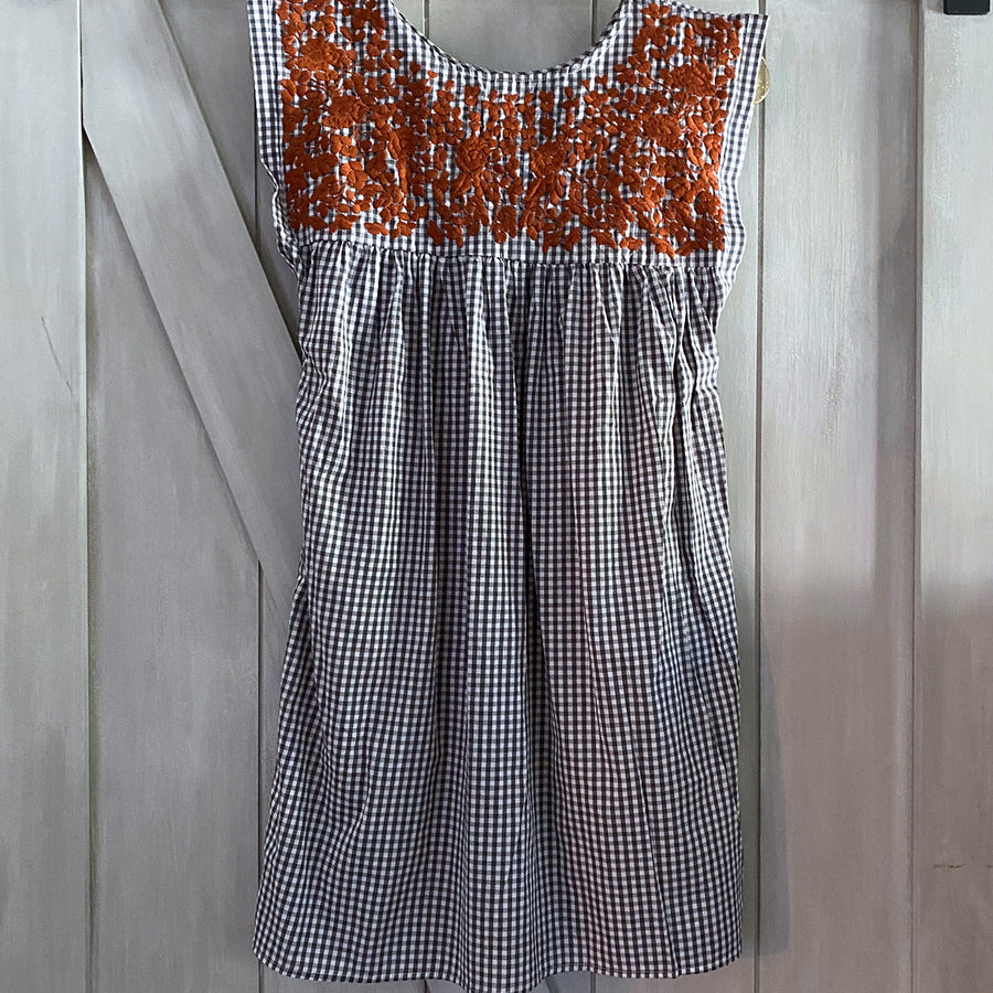 Longhorn Gingham Butterfly Dress