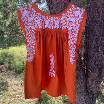 PRE-ORDER: Longhorn Burnt Orange Butterfly Blouse (July Delivery)