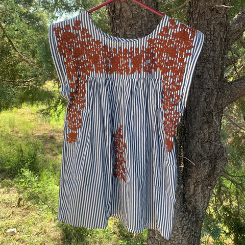 Longhorn Ticking Butterfly Blouse