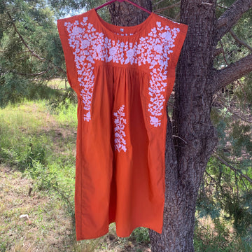 Longhorn Burnt Orange Butterfly Dress