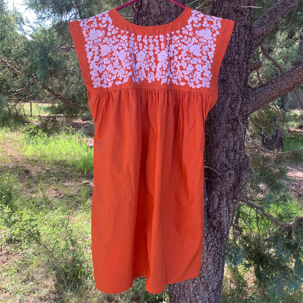 PRE-ORDER: Longhorn Burnt Orange Butterfly Dress (August)
