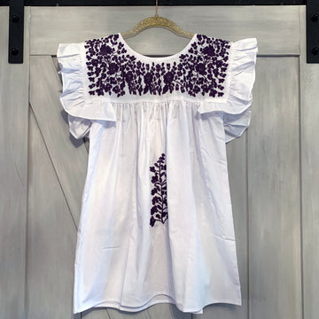 TCU White Angel Blouse
