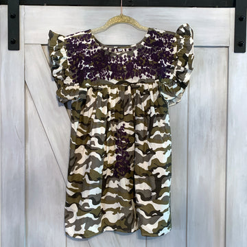 TCU Camo Angel Blouse