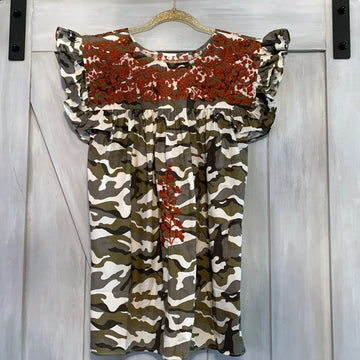 Longhorn Camo Angel Blouse