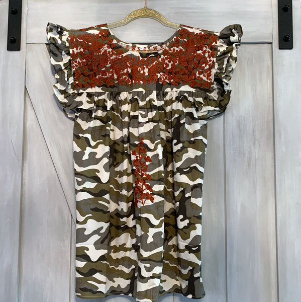 PRE-ORDER: Longhorn Camo Angel Blouse (October)