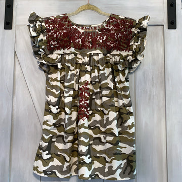 Aggie Camo Angel Blouse