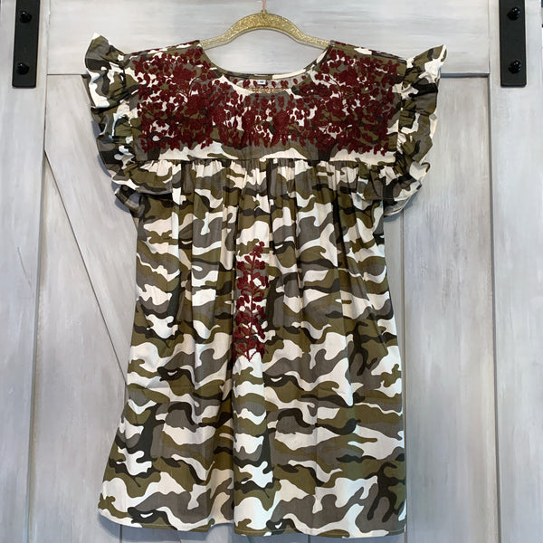 PRE-ORDER: Aggie Camo Angel Blouse (October)