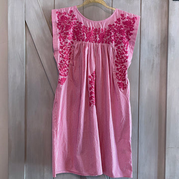 Pink Gingham Butterfly Dress (Limited Edition)