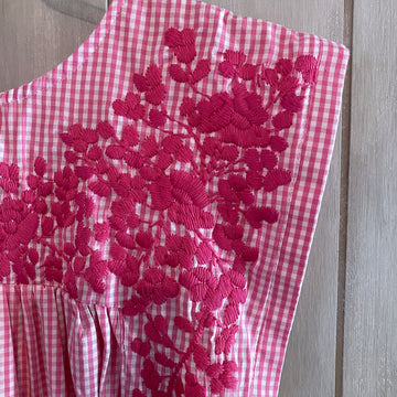 Pink Gingham Butterfly Blouse (Limited Edition)