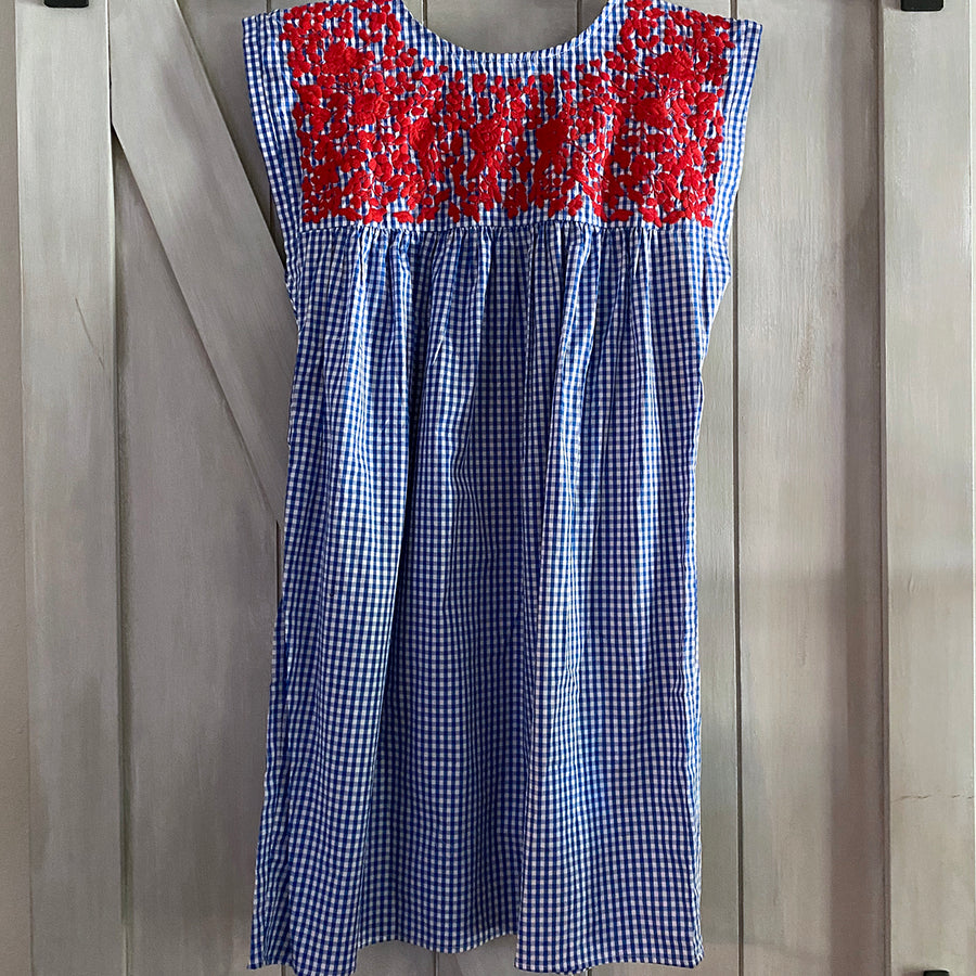 Red, White, & Blue Seersucker Butterfly Dress