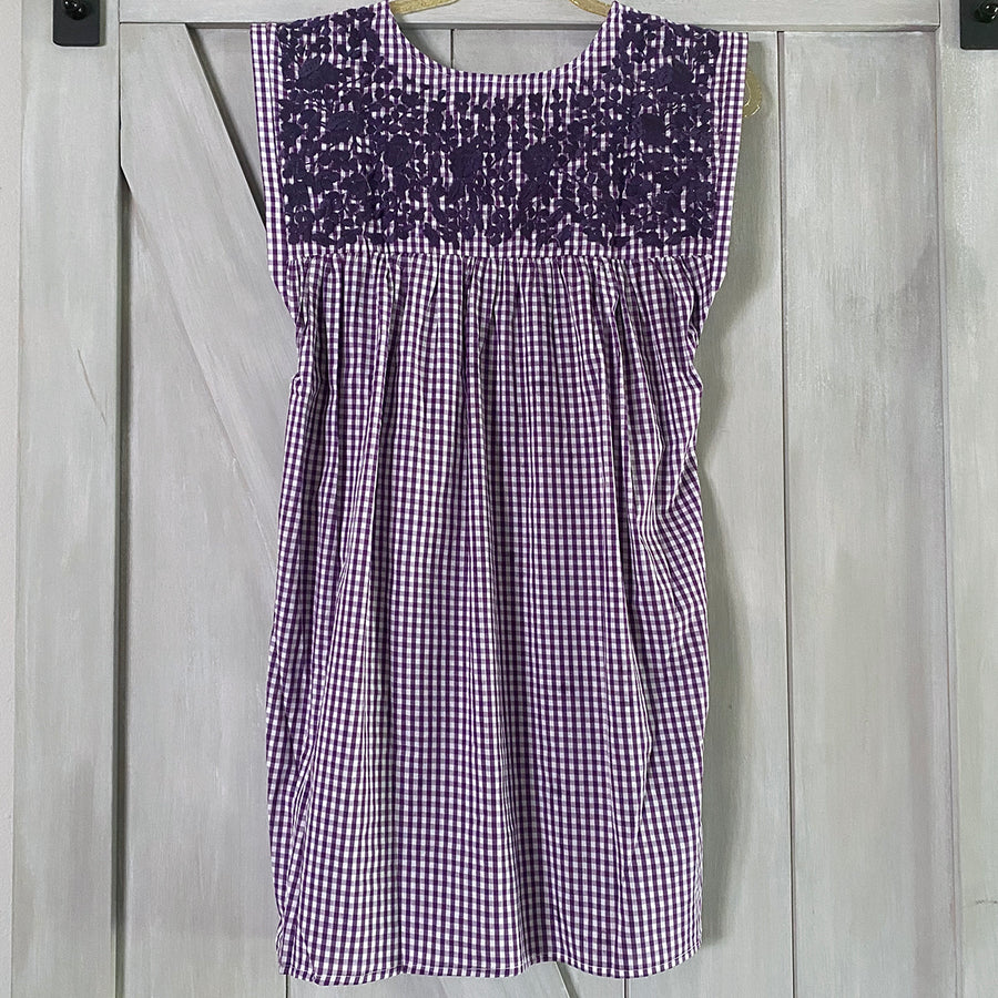 TCU Gingham Butterfly Dress