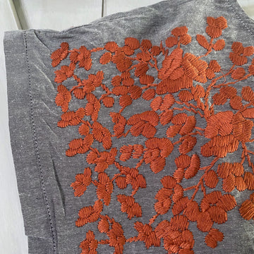 Longhorn Gray Chambray Butterfly Blouse