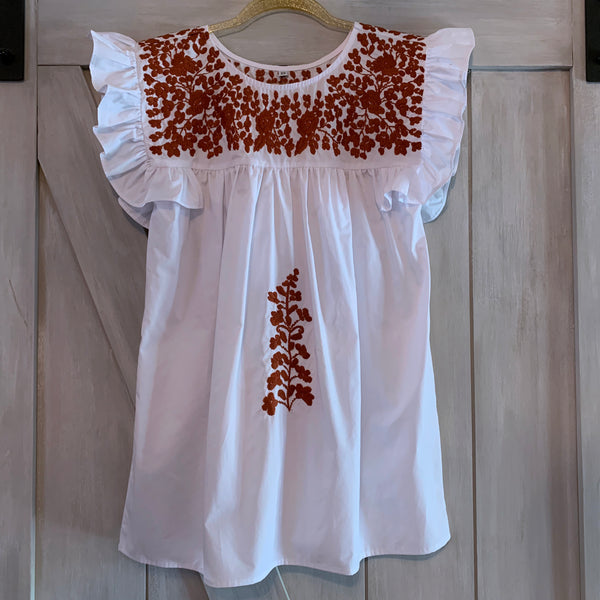 PRE-ORDER: Longhorn White Angel Blouse (September)