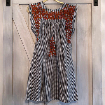 Longhorn Black Gingham Butterfly Dress