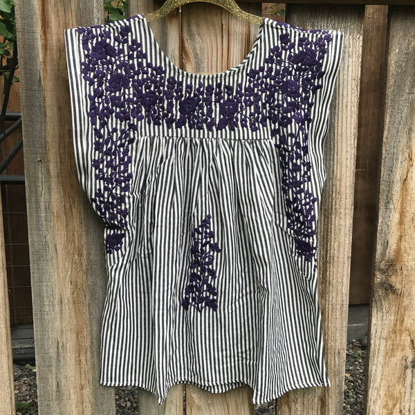 TCU Ticking Butterfly Blouse