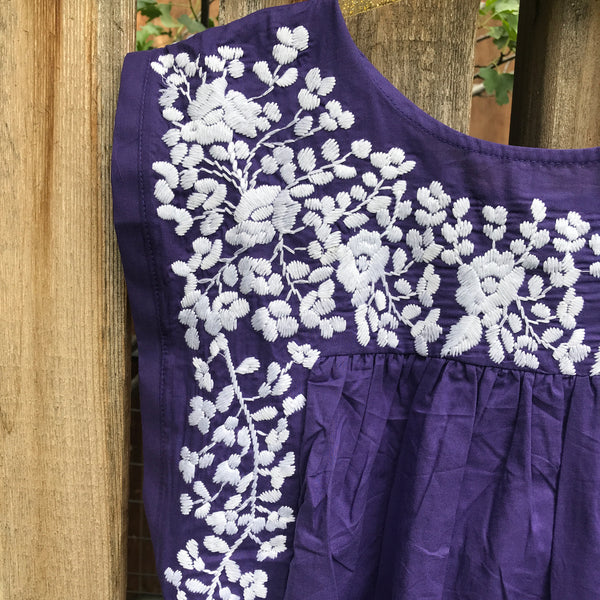 TCU Purple Butterfly Dress