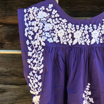 TCU Purple Butterfly Blouse