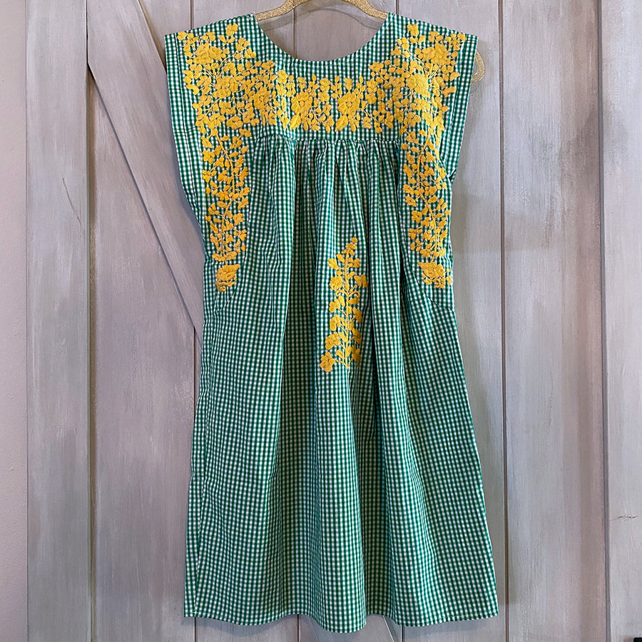 Baylor Green Gingham/Gold Butterfly Dress (Limited Edition)