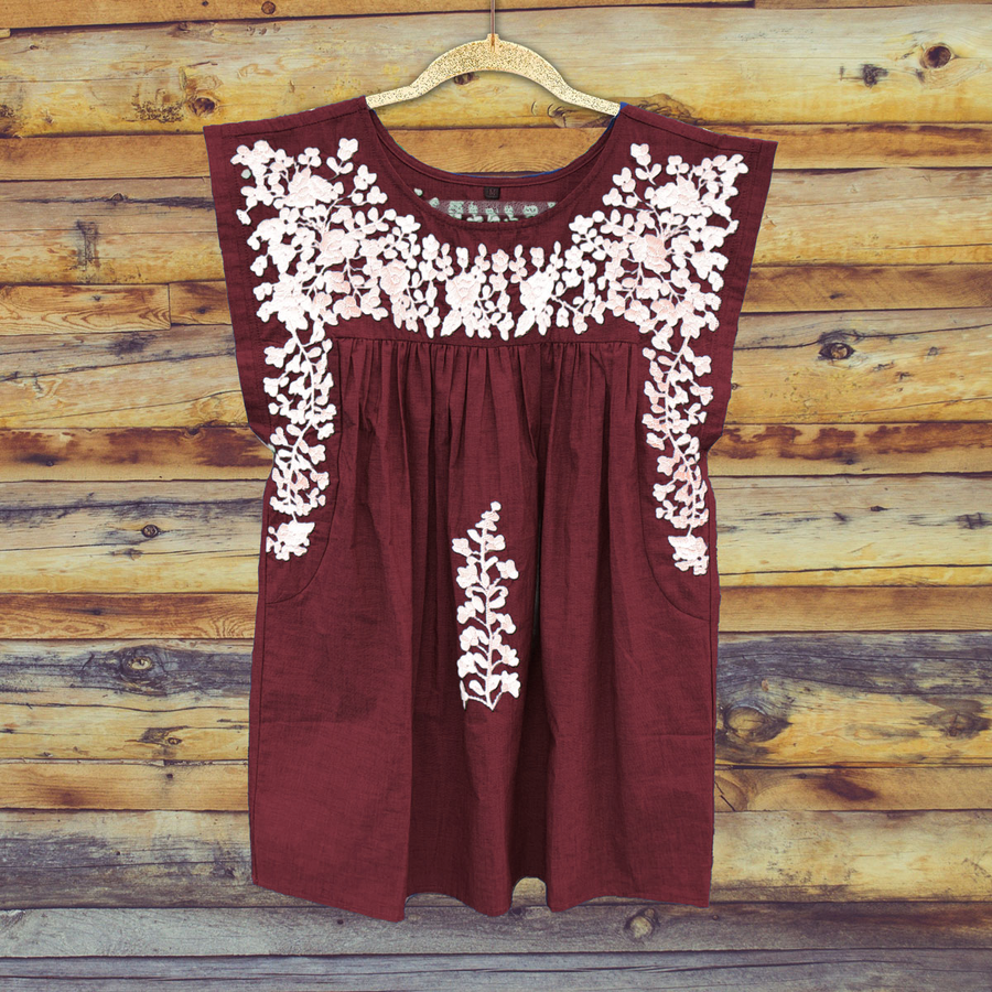 PRE-ORDER: Aggie Maroon Butterfly Blouse (July Delivery)