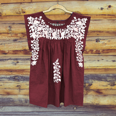 PRE-ORDER: Aggie Maroon Butterfly Blouse