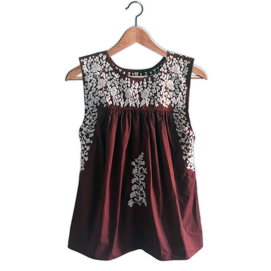 Aggie Sleeveless Blouse (In Stock)