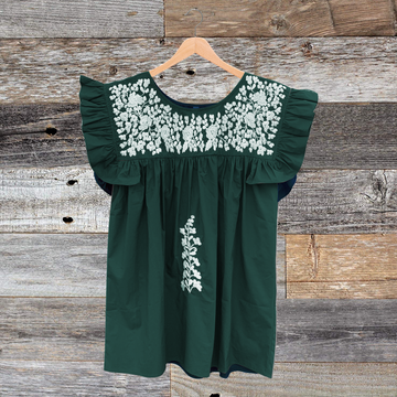 Green & White Angel Blouse