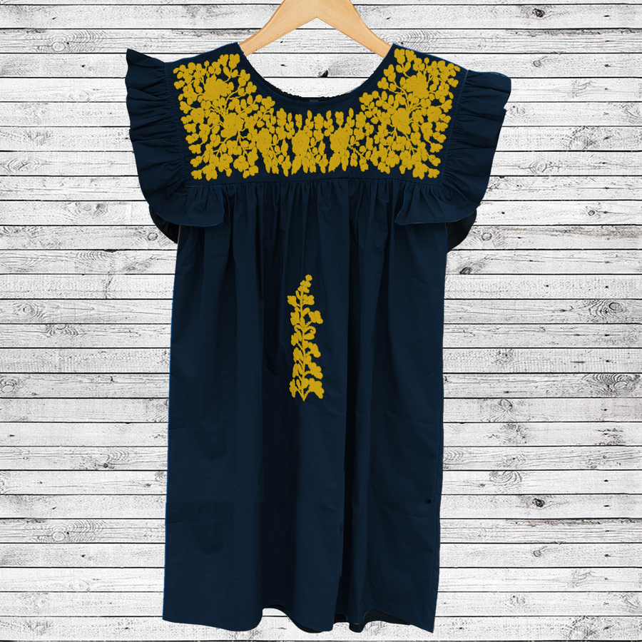 PRE-ORDER: Navy and Gold Angel Dress (July Delivery)