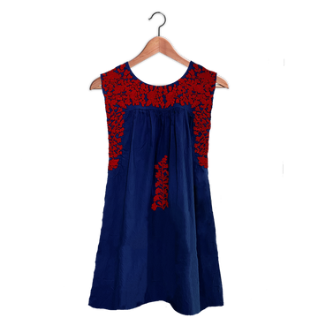 PRE-ORDER: Royal Blue & Red Sleeveless Dress (EARLY JUNE DELIVERY)