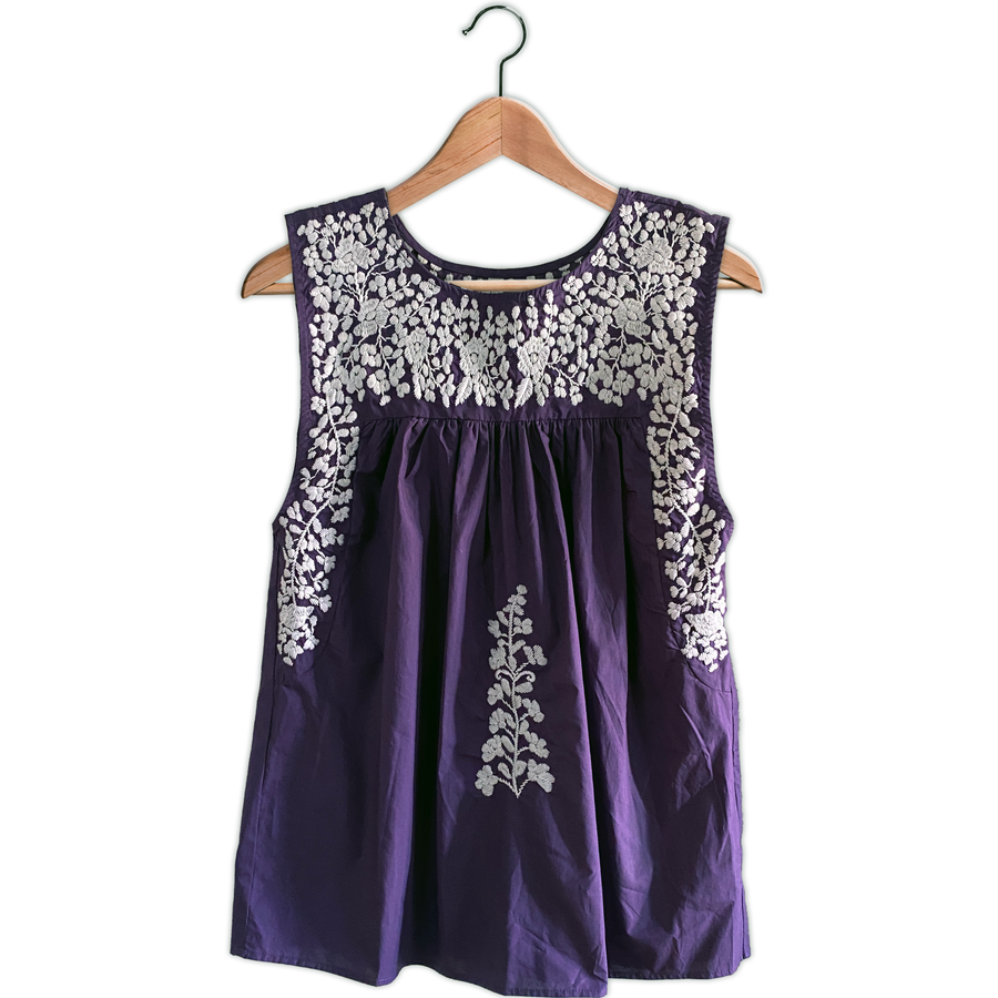 TCU Sleeveless Blouse (Now In Stock)