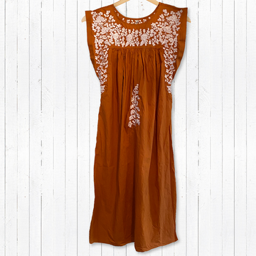 Longhorn Burnt Orange Butterfly Midi