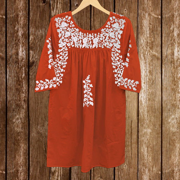 PRE-ORDER: Longhorn Burnt Orange Saturday Dress (September)