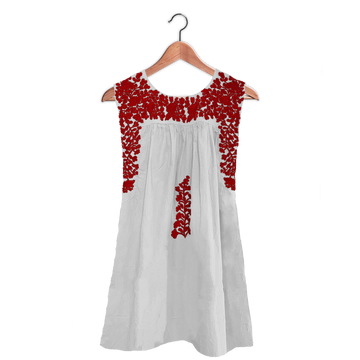 PRE-ORDER: White & Red Sleeveless Dress (EARLY JUNE DELIVERY)