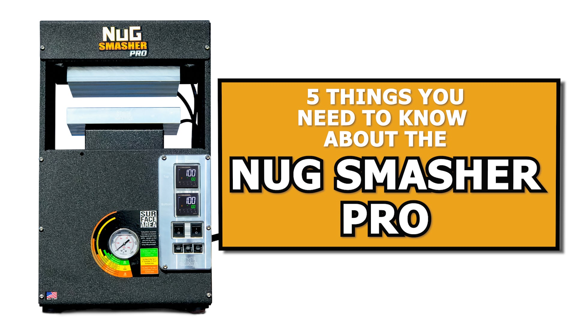 5 Things You Need to Know About the NugSmasher Pro 20 Ton Rosin Press