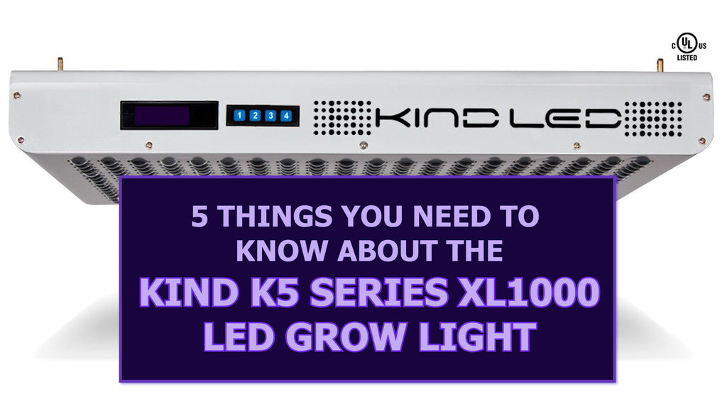 5 Things You Need to Know about the Kind K5 series XL1000 LED Grow Light