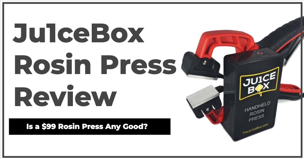 Ju1ceBox Rosin Press Review - Is a $99 Handheld Rosin Press Any Good?