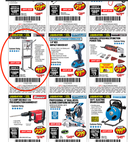 Sample Harbor Freight Coupon