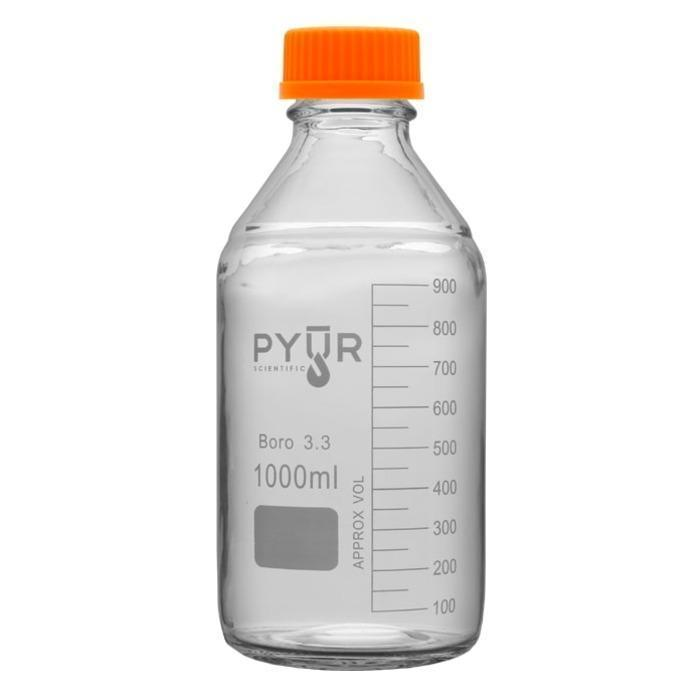 Pyur Scientific Pyur Scientific 1L Glass Reagent Media Storage Bottle
