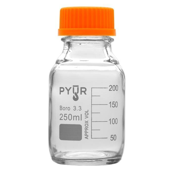 Pyur Scientific 250ml Glass Reagent Media Storage Bottle