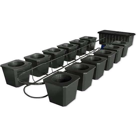 SuperCloset 12 Site Bubble Flow Buckets Hydroponic System
