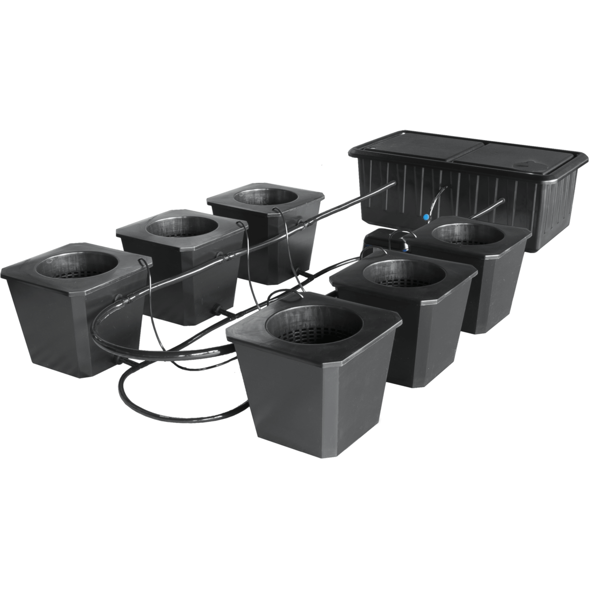 SuperCloset SuperCloset 6 Site Bubble Flow Buckets Hydroponic Grow System
