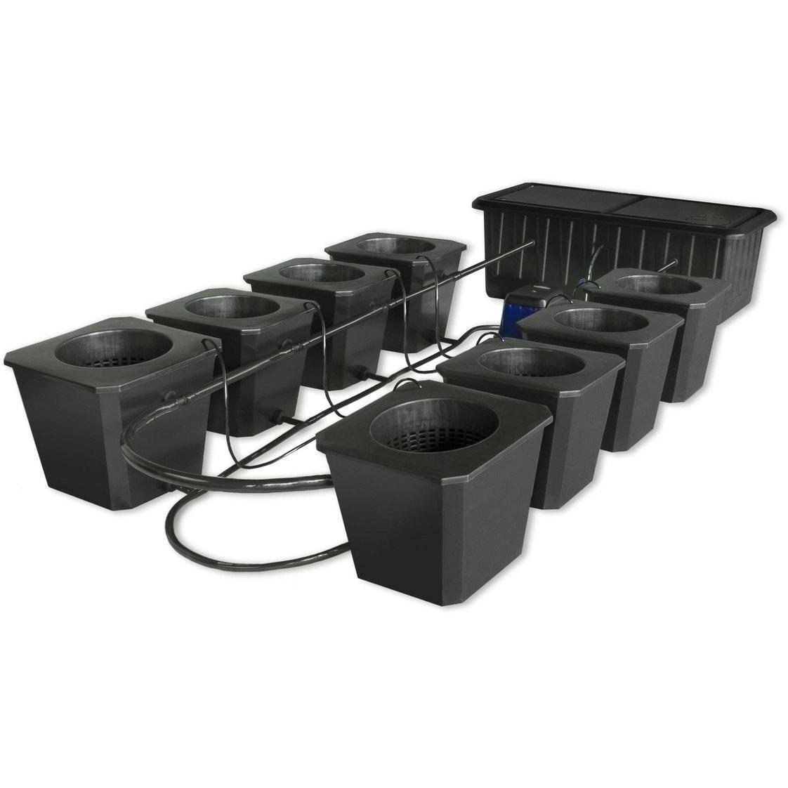 SuperCloset SuperCloset 8 Site Bubble Flow Buckets Hydroponic Grow System