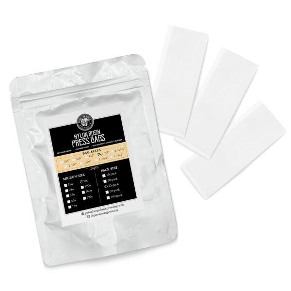 "Trimleaf Gutenberg's Dank Pressing Co 1.5"" x 4"" Rosin Bags-25 Pack"
