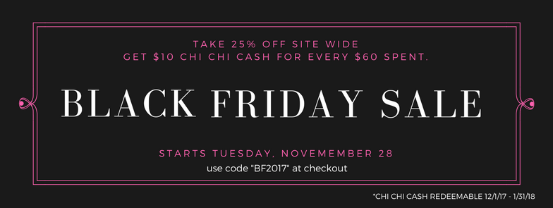 black friday sale. 25% off sitewide