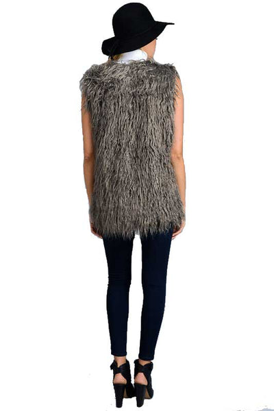 Brielle Fur Vest [silver grey]