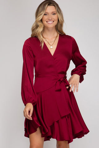 Bianca Wrap Dress [wine]