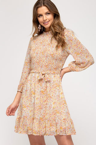 Delphine Dress [peach]