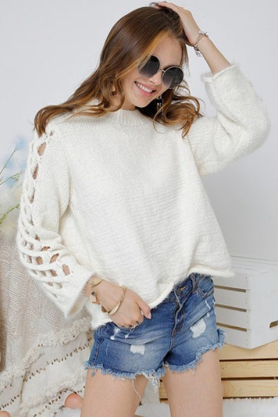 Lattice Sweater [ivory]