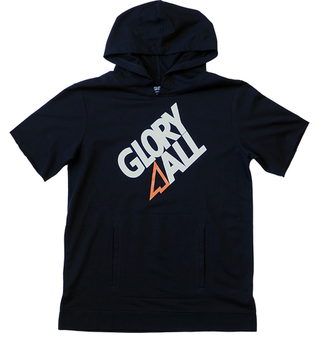 G1 Short Sleeve Hoodie - Black/Orange